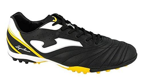Joma Aguila 611 Turf Schwarz Gelb Multinoppen Fussballschuhe, Größe:46, Farbe:Schwarz
