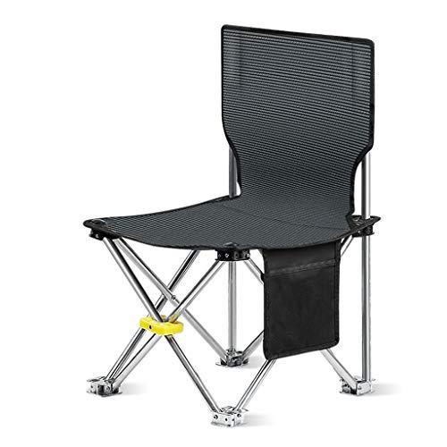 LP Bar stool Campingstuhl, Tragbarer Klappstuhl Zum Wandern, Sessel, Camping, Jagd, FußBallspiele Beobachten, Angeln, Picknick, Grill (Blau, Schwarz) -