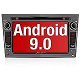 PUMPKIN Android 9.0 Autoradio für Opel Radio mit Navi / DVD Player Unterstützt Bluetooth DAB+ WiFi 4G USB CD Android Auto MicroSD 7 Zoll Bildschrim Grau