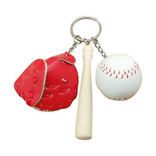 Wicemoon Schlüsselanhänger Baseball Anhänger Keychain Münztasche Rucksack Key Pendant Deko