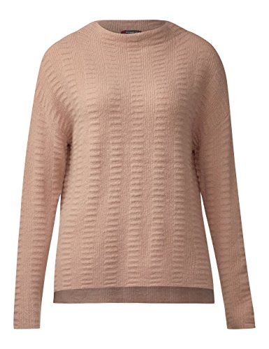 Street One Structured Turtle Neck Pullover, Pull Femme Rosa (Studio Rose Knit 10983)