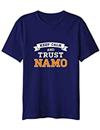 NaMo Merchandise Keep Calm and Trust Namo Round Neck T-Shirt - Medium Size Blue