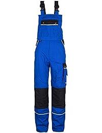 TMG® Mono de Trabajo para Mecánicos y fontaneros - Resistente con Pechera y Rodilleras - Azul Real