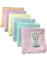 the cotton chef Women's Cotton Handkerchief (Multicolour, Free Size) - Pack of 12