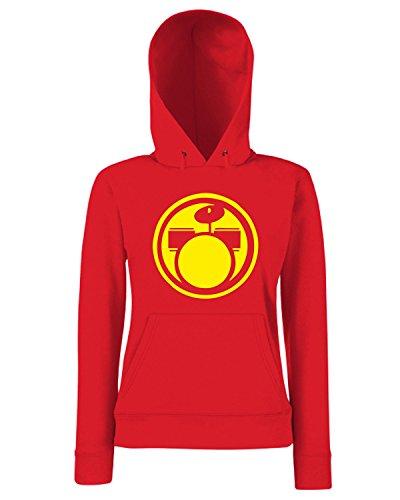 T-Shirtshock - Sweats a capuche Femme FUN1274 drums circular diecut decal 21768 Rouge