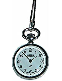 Bernex Swiss Made Sterling Silver Ladies Pendant Watch + Chain (Open Face Polished)