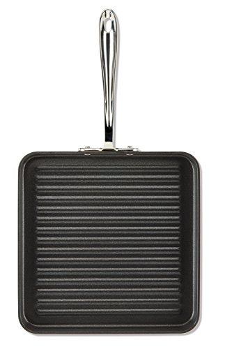All-Clad E7954064 HA1 Grillgeschirr, harteloxiert, antihaftbeschichtet, spülmaschinenfest, PFOA-frei, quadratisch, 28 cm, Schwarz Sonoma Pfanne