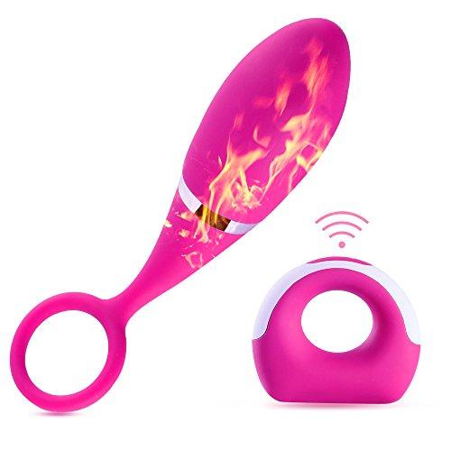 Oeuf Vibrant Vibromasseur Femme Rechargeable USB Imperméable Sans Fils Mini Massage Stimulateur 10 Fréquences Télécommandé a Distance Silencieux