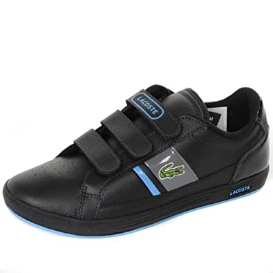 58e523779cac6 Image Unavailable. Image not available for. Colour  Lacoste Europa Strap  Trainers - Black Blue UK2