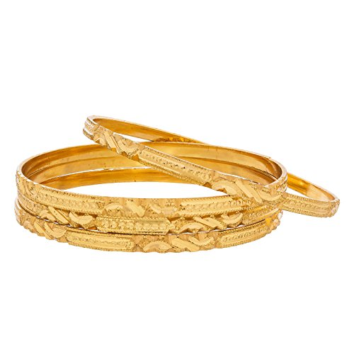 The Luxor Gold Plated Designer Daily Wear Traditional Bangles Set for Women (2.6)