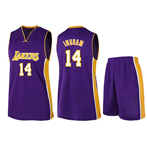 HS-WANG9 Los Angeles Lakers # 14 Brandon Ingram Uniformes