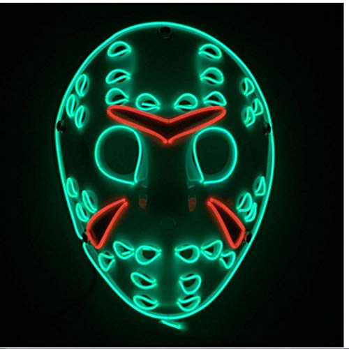 ßen Freddy Vs Jason EL Cold Light Glow Maske Prom Cocktail Cheer Requisiten ()