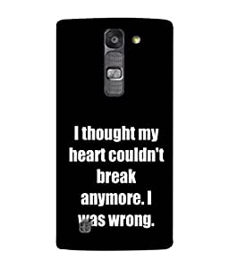 PrintVisa Disappointed Quote 3D Hard Polycarbonate Designer Back Case Cover for LG G4 Mini :: LG G4c :: LG G4c H525N