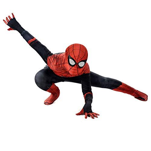 SEJNGF Helden Expedition Spider-Man Cosplay Anime Cosplay 3D Digitaldruck Siamese Strumpfhosen Halloween Set (Kopfhauben Können Getrennt ()