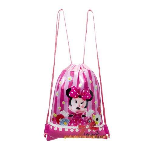 Disney Minnie Mouse Hot Pink Drawstring Bag by Disney