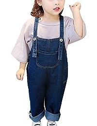 Guiran Pantalones Vaquero De Peto para Bebé Niños Niñas Largo Lindo  Tirantes Pantalones Overall Mono Azul 63e3248a75d