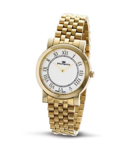 Philip Watch - R8253193545 - Montre Femme - Quartz Analogique - Bracelet Acier Inoxydable Doré