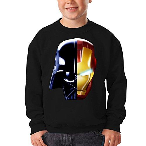 Pull Enfant Noir Star Wars - Iron Man parodique Dark Vador, Iron Man et Daft Punk : Dark Punk - Get Darky : (Parodie Star Wars - Iron Man)