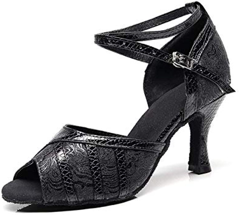 ZHRUI Cinturino alla alla alla Caviglia Moda Donna Nero Sandali Sintetico Latino Salsa Salsa da Ballo UK 7 (Coloreee   Nude... | Attraente e durevole  | Sig/Sig Ra Scarpa  755676