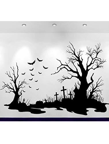 Halloween Friedhof Szene Aufkleber Hot Home Decoration Wandaufkleber Sofa Hintergrund Dekorative Aufkleber Poster 163 * 42