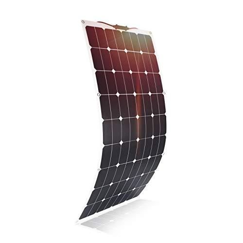 Especificación de nuestro panel solar semi flexible ETFE 100W: Potencia: 100W; Material: ETFE + EVA + célula solar Sunpower + TPT Voltaje de trabajo: 16V Corriente de trabajo: 6.25A Puerto de salida: conector estándar MC4 con función impermeable Func...