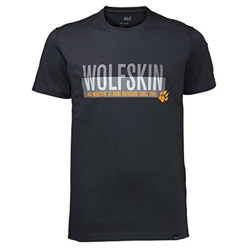 Jack-Wolfskin-pour-homme-Slogan-T-shirt