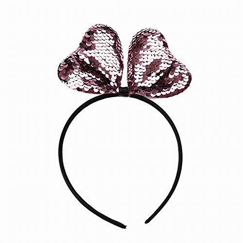 RENNICOCO Glitter Cat Ears Stirnband für Mädchen Reversible Pailletten Mädchen Stirnbänder Kids Hair Hoop Headwear