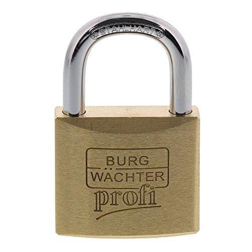 BURG-WÄCHTER Vorhängeschloss, 6 mm Bügelstärke, Ultrahart, 2 Schlüssel, Profi 116 40 SB