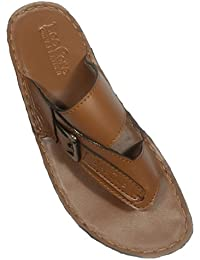 Shoe Rack Men's TAN Leather Slip On For Men's
