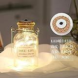 Kreative leuchtende LED-Schnur Wunschflasche Glasflasche Basteln Dekoration Reagenzglas Glückssternchen Solardose Lampe 125ml (weiß) warmweiße LED-Schnur)