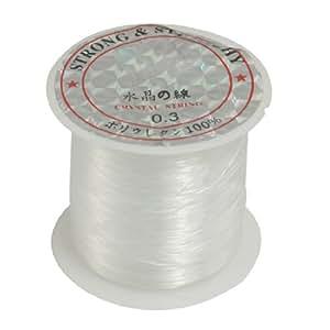Jewelry 0,3 mm Diamètre de bobine de fil à pêche en Nylon transparent 17 kg