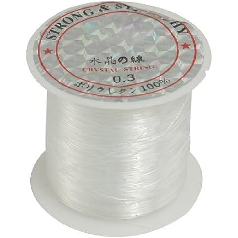 Joyas Rebordear Thread 0.3mm Diámetro Nailon Transparente Carrete De Pesca Línea 7.7kg