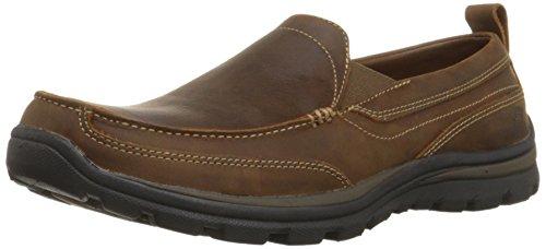 skechers-mens-dark-brown-suprior-gains-suede-slip-on-shoes-11