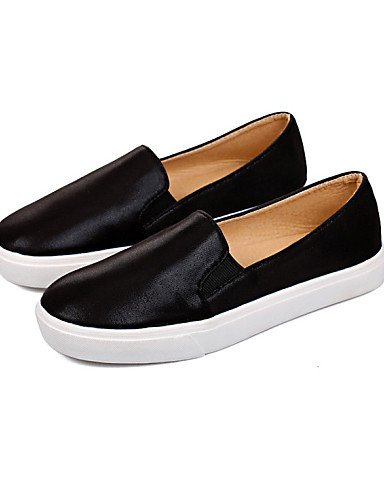 ZQ Scarpe Donna - Ballerine - Tempo libero / Casual - Punta arrotondata - Piatto - Finta pelle - Nero / Neutro , black-us8.5 / eu39 / uk6.5 / cn40 , black-us8.5 / eu39 / uk6.5 / cn40 almond-us8 / eu39 / uk6 / cn39