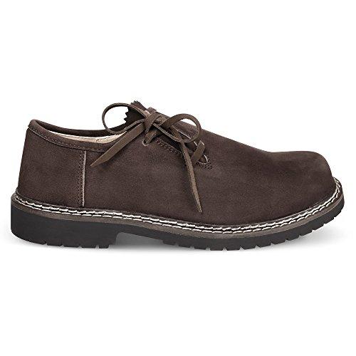 Almbock Trachtenschuhe Wildbock Starnberg used-look - echtes Wildbock-Leder, leicht bei der Pflege, robuste Sohle, edel braun, modische Farbe (Italienische Leder Echtes Schuhe)