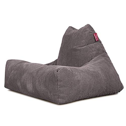 Lounge Pug®, Pouf Fauteuil Relax, Pompon Anthracite