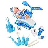 yoptote Maletin Médico Juguete Dentista Cuadro Médico Conjunto Enfermera Médico Kit Parque Infantil para Niños - Fingir Juego Herramientas Juguete Set 14 Piezas (Azul)