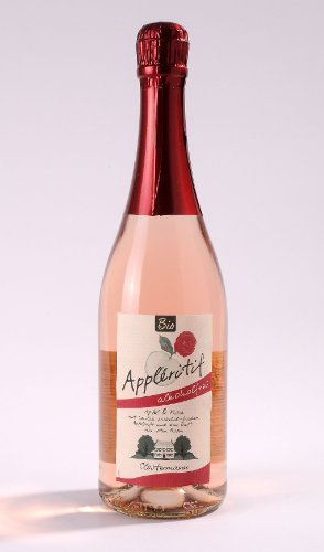 BIO! 6 x Appléritif Apfel und Rose - ALKOHOLFREI! Mit Gratis DropStop! Obsthof Clostermann-Neuhollandshof Niederrhein 750 ml