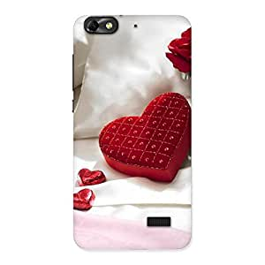 NEO WORLD Premium Pilow Heart Back Case Cover for Honor 4C