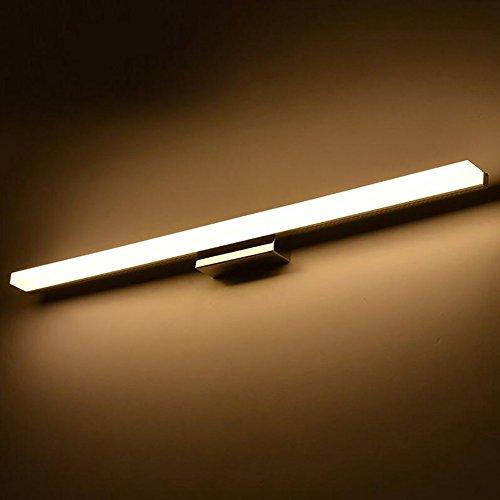 KAIRRY LED SpiegelleuchteModerne Kosmetische Acryl Wandleuchte Bad Beleuchtung Wasserdicht Spiegel Schrank Lampe Badleuchte (Color : Warmes Licht, Größe : 120CM)
