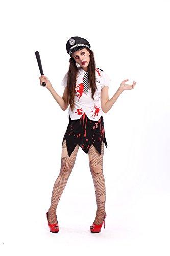 LLY Halloween blutigen Polizeiuniform Bühnenkostüme - Sexy Blutige Kleid Zombie Kostüm