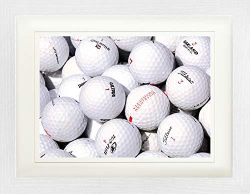 1art1 121828 Golf - Golfbälle Gerahmtes Poster Für Fans Und Sammler 40 x 30 cm -