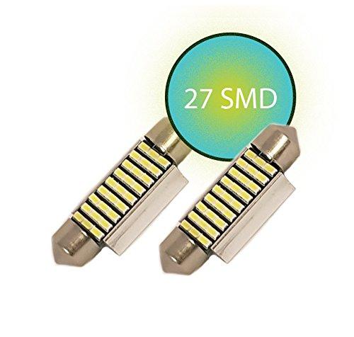 Preisvergleich Produktbild Jurmann Trade GmbH® LED SMD helle Innenraumbeleuchtung / Kennzeichenbeleuchtung 39mm Xenon weiß mit 27 LEDs,  sehr hell