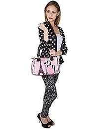 Lavaya Digital Printed Hand Bag Girl In Paris Print