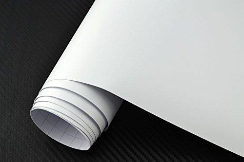 Preisvergleich Produktbild 5.33€ / m² NEOXXIM PREMIUM - Auto Folie - MATT - WEISS - WEISS MATT 100 x 150 cm - blasenfrei mit Luftkanälen ca 0, 15mm dick für Auto Folierung folieren bekleben