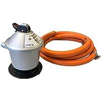 Homelux 300066 Kit Regulador Gas Domestico y Manguera con Abrazadera, 1.5 m