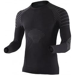X-Bionic Man Invent Uw Shirt Lg_Sl., Uomo, Nero/Antracite, M