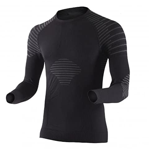X-Bionic Invent T-Shirt manches longues Homme Noir/Anthracite FR : S (Taille Fabricant : S)