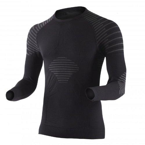 X-Bionic Erwachsene Funktionsbekleidung Man Invent UW Shirt LG SL, Black/Anthracite, XXL, I020270 (Blau Wäsche-shirt Englisch)