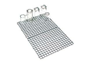 Gläserabstellmatte Gläserabtropfmatte 40 x 30 cm grau